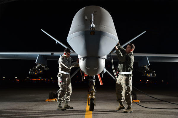 MQ-9 Reaper drones have been used by the Air Force Rescue Coordination Center at Tyndall Air Force Base, Fla., to track down missing persons. (US Air Force photo)