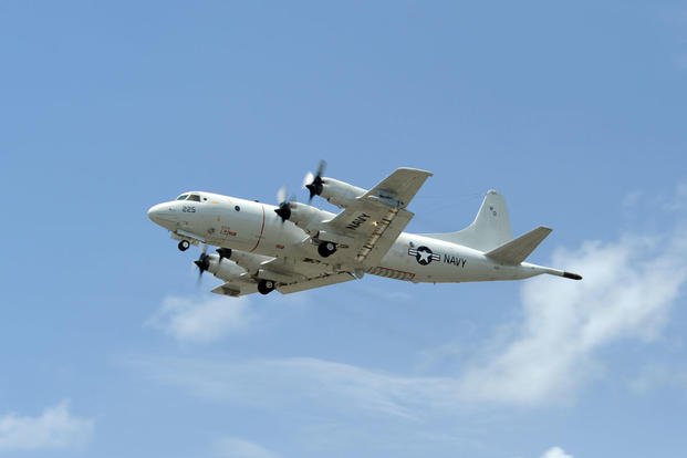 A U.S. Navy P-3C Orion.