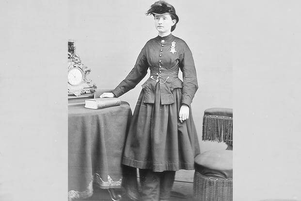 Dr. Mary E. Walker wore her Medal of Honor around her neck for the rest of her life. (National Archives photo)