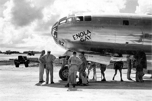 The Enola Gay before the bombing mission.