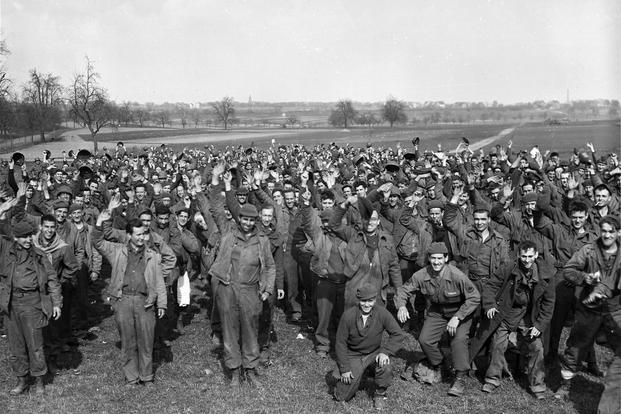 1,200 U.S. soldiers escape from POW camp at Limburg, Germany (Photo: National Archives)