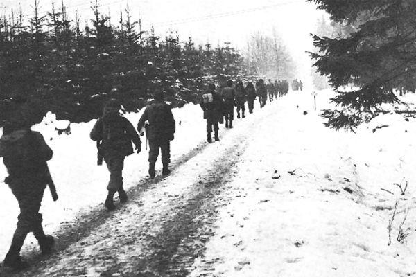 2nd Division infantrymen on the march. (U.S. Army photo)