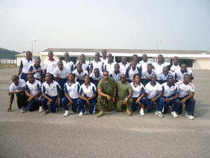 Gunnery Sgt. Gyabin with Ghanaian sailors