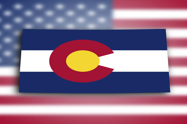 Colorado Map With Flag Design