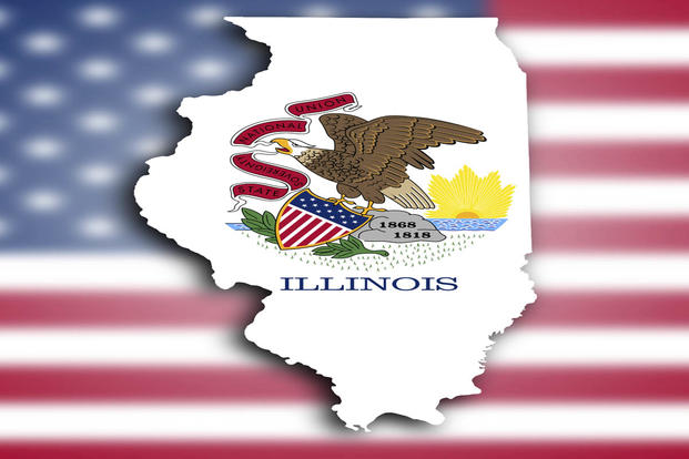 Illinois Map And Seal