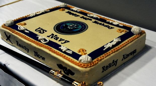 Navy birthday cake