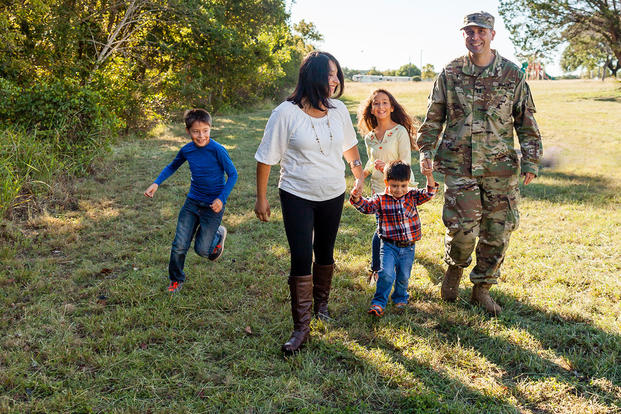 Army family playing outdoors (Photo: U.S. Army MWR)