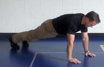 Stew Smith, pushup pose