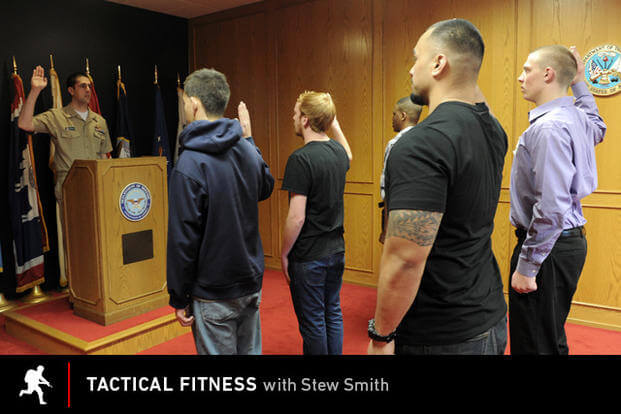 Recruits swearing in.