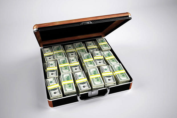 briefcase with cash