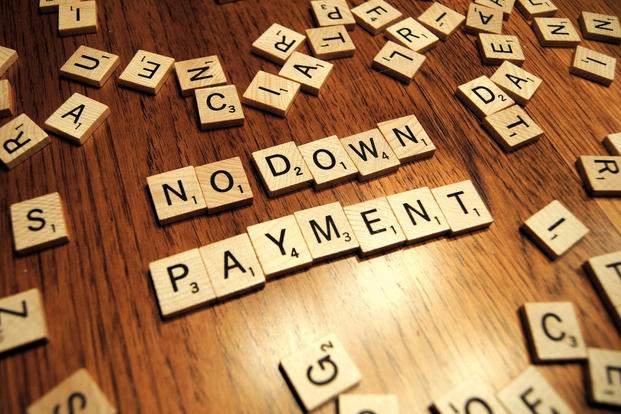"Scrabble tiles spelling out ""No down payment"" (Photo: Flickr/Jake Rustenhoven, GotCredit)"