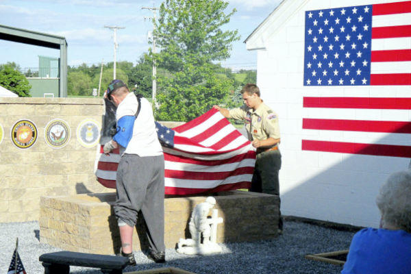 Flag retirement in Lebanon Pennsylvania