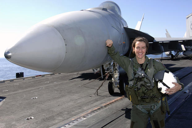 Navy Cmdr. Becky Calder flew F/A 18s for 15 years and is one of the few aviators to fly every version of the Hornet. (Photo: Courtesy of Becky Calder)