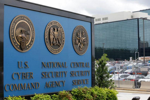 Photo shows the sign outside the National Security Administration (NSA) campus in Fort Meade, Md. (AP Photo/Patrick Semansky, File)