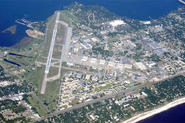 Aerial view of Keesler, 2002. (U.S. Air Force photo)