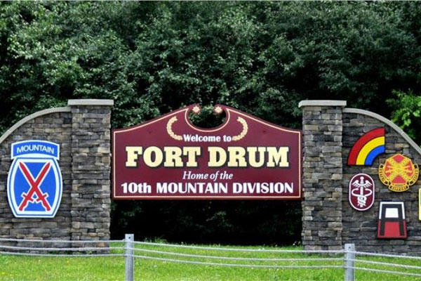 Fort Drum entrance sign
