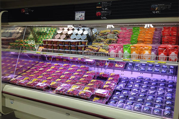 A reorganized area of the Orote commissary produce section on Naval Base Guam. Military.com photo