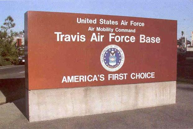 Sign for Travis Air Force Base, California (Air Force photo)