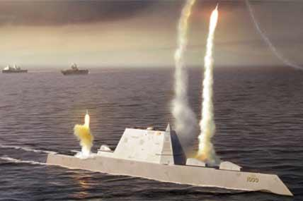 Zumwalt class DDG-1000 stealth destroyer