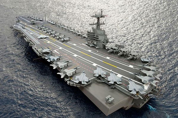 The aircraft carrier John F. Kennedy (CVN 79) is the second ship in the Gerald R. Ford class.
