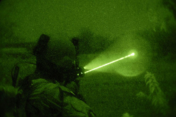 A soldier seeks a target at night. Army and Marine Corps leaders want to standardize training for nighttime marksmanship in order to capitalize on experiences from troops over the past decade in Iraq and Afghanistan. DoD photo