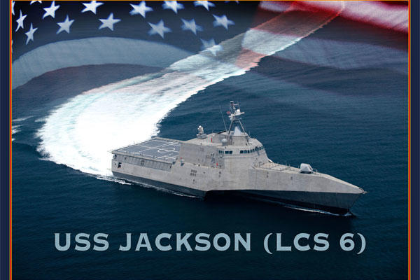 An artist rendering of the littoral combat ship USS Jackson.