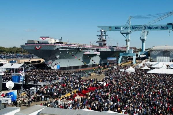 The Navy's newest aircraft carrier, USS Gerald R. Ford (CVN 78), was christened during a ceremony Nov. 9 in Newport News, Va.