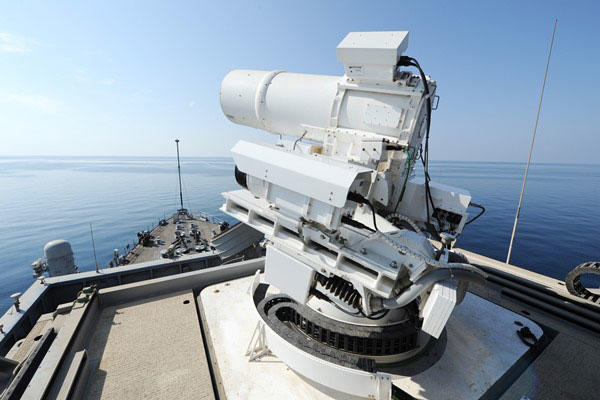 LaWs Laser aboard the USS Ponce