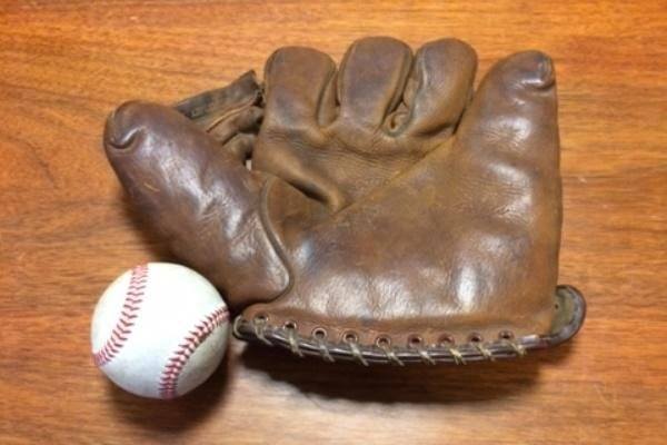 The baseball mitt handed to soldiers with 3rd Squadron, 2nd Cavalry on Operation Dragoon Ride. (Photo courtesy of Col. John Meyer)