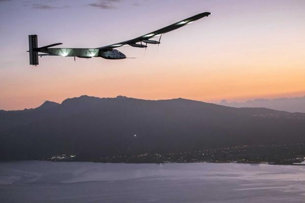 A plane powered by the sun's rays has landed in Hawaii after a record-breaking five-day journey across the Pacific Ocean from Japan. Associated Press