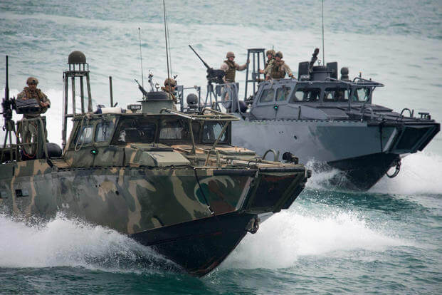 Riverine Command Boats (RCB). (U.S. Navy photo by Mass Communication Specialist 2nd Class Torrey W. Lee/Released)