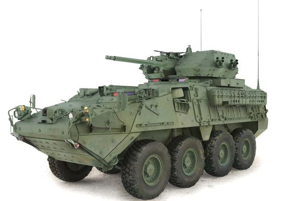 The Army's new prototype of the Army's Stryker vehicle armed with a 30mm cannon. Photo: Scout Warrior