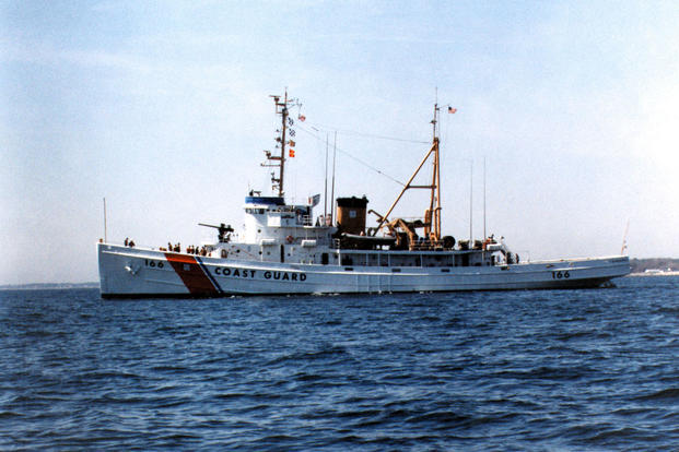 This image of the Coast Guard Cutter Tamaroa was shot one year before it would sail into the vicious Halloween storm to save lives. USCG Photo courtesy Coast Guard Historian.