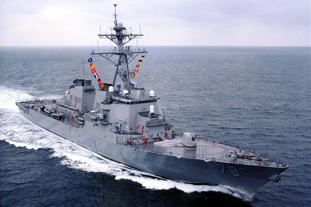 The Arleigh Burke-class destroyer USS Porter (DDG-78) (Navy Photo)