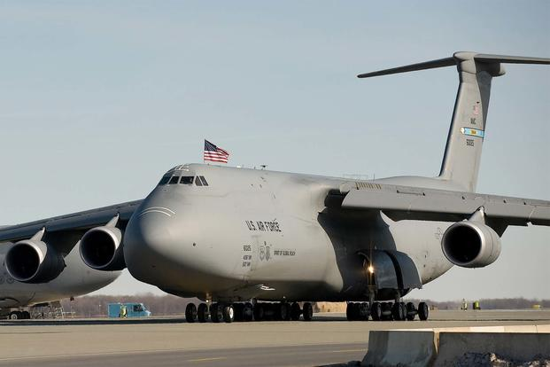 FILE -- The Spirit of Global Reach, Team Dover's first C-5M Super Galaxy, was delivered Feb. 9, 2009 during a delivery ceremony at Dover Air Force Base, Del. (U.S. Air Force/Jason Minto)