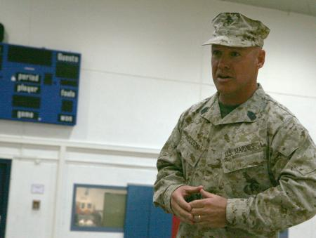 Sgt. Maj. James McCook takes over as senior enlisted for Marine Forces Europe.