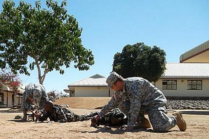 Army Security Assistance Team members train troops in Africa