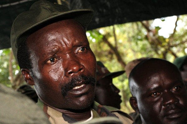 In this Nov. 12, 2006 file photo, the leader of the Lord's Resistance Army Joseph Kony answers journalists' questions following a meeting with UN humanitarian chief Jan Egeland at Ri-Kwangba in southern Sudan.