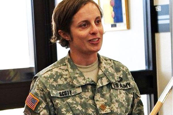 Army Maj. Angela Scott from the 20th Chemical, Biological, Radiological, Nuclear and Explosives Command was one of 26 women to take part in the second gender-integrated Ranger Training Assessment Course. (U.S. Army photo)