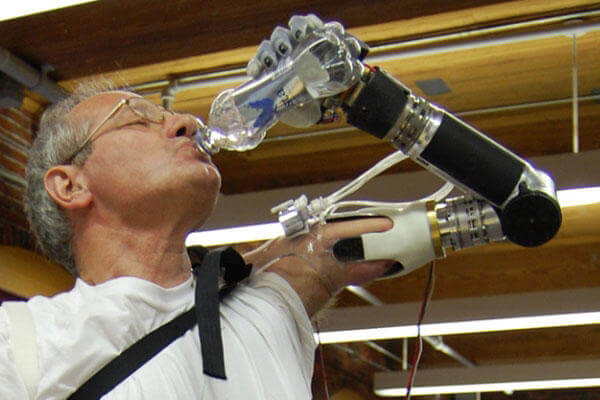 "Dubbed ""Luke"" (after Luke Skywalker), the DEKA robotic arm is a DARPA funded project intended to restore functionality for individuals with upper extremity amputations. (Photo by DEKA Research and Development Corp.)"
