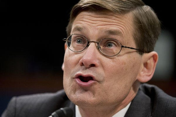 In this April 2, 2014, file photo, former CIA Deputy Director Michael Morell testifies on Capitol Hill in Washington, before the House Intelligence Committee. (AP Photo/Manuel Balce Ceneta, File)