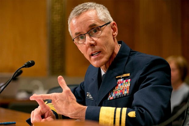 In this June 10, 2015, file photo, Coast Guard Vice Commandant Peter Neffenger testifies on Capitol Hill before the Senate Homeland Security Committee hearing on his nomination to head the Transportation Security Administration. AP Photo/Jacquelyn Martin