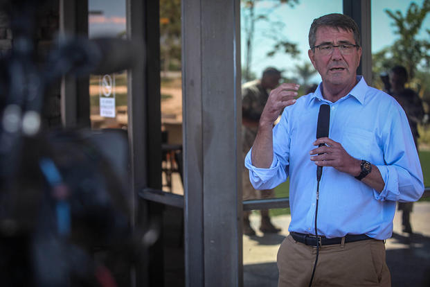 U.S. Secretary of Defense, the honorable Mr. Ashton Carter opened up for questions from service members and media outlets aboard Marine Corps Base Camp Pendleton, Calif., Aug, 27, 2015. (Photo: Cpl. Seth Starr)