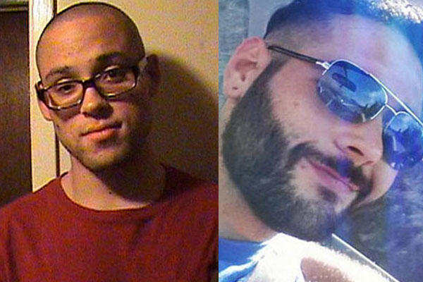 Chris Harper Mercer, left, the alleged gunman in the Oregon shooting and Christopher Mintz, who was shot five times while attempting to prevent Mercer from entering a classroom. (Photos: Myspace and Facebook)