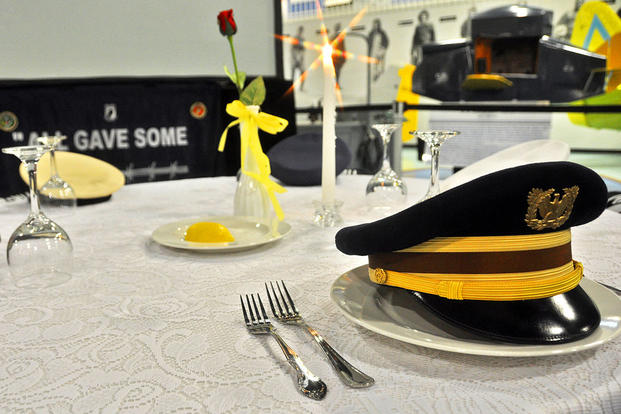 A Missing Man table at Eglin Air Force Base. Air Force photo
