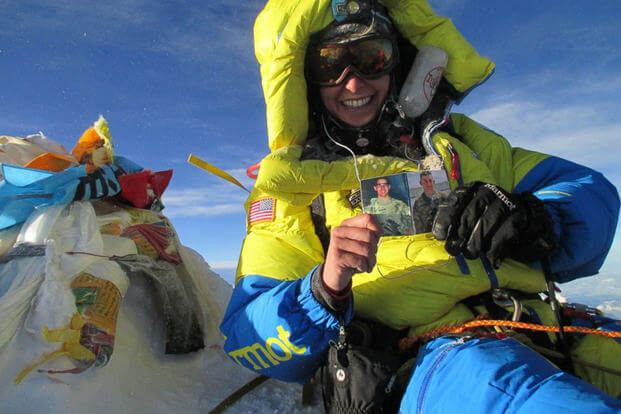 Elyse Ping Medvigy on Mount Everest (Photo: USX)