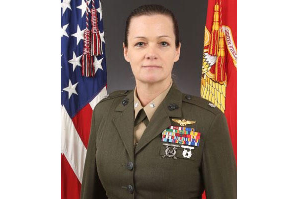 Lt. Col. Jennifer Grieves, 45, was relieved from command of Marine Heavy Helicopter Squadron 474 due to a loss of trust and confidence in her ability to continue to lead. (Marine Corps photo)
