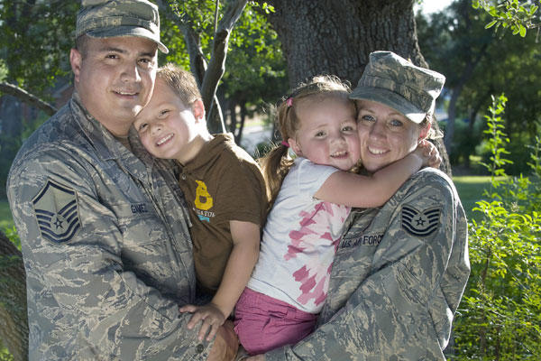 Airmen with family