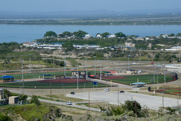 View of Cooper Field at Naval Station Guantanamo Bay, Cuba as seen from John Paul Jones Hill. (Mass Communication Specialist 2nd Class Kegan E. Kay)