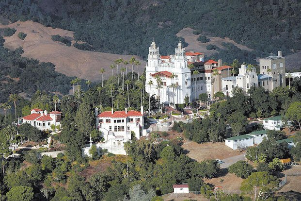 "This Oct. 23, 2006, file photo, shows ""La Cuesta Encantada,"" The Enchanted Hill, the legendary home now best known as Hearst Castle, built by publishing tycoon William Randolph Hearst in San Simeon, Calif."